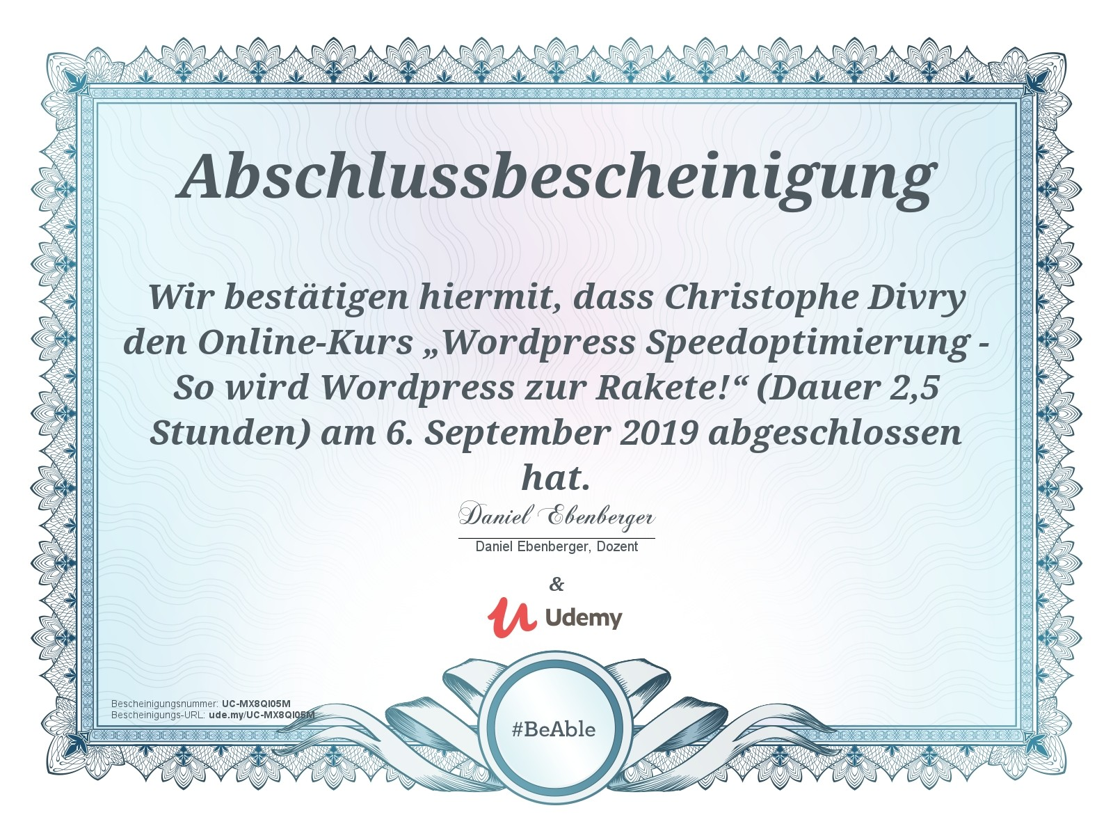 Abschluss - Wordpress Speedoptimierung